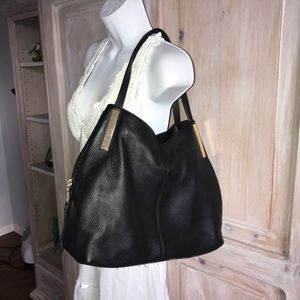 Vince Camuto Pebbled Leather Purse Handbag LN
